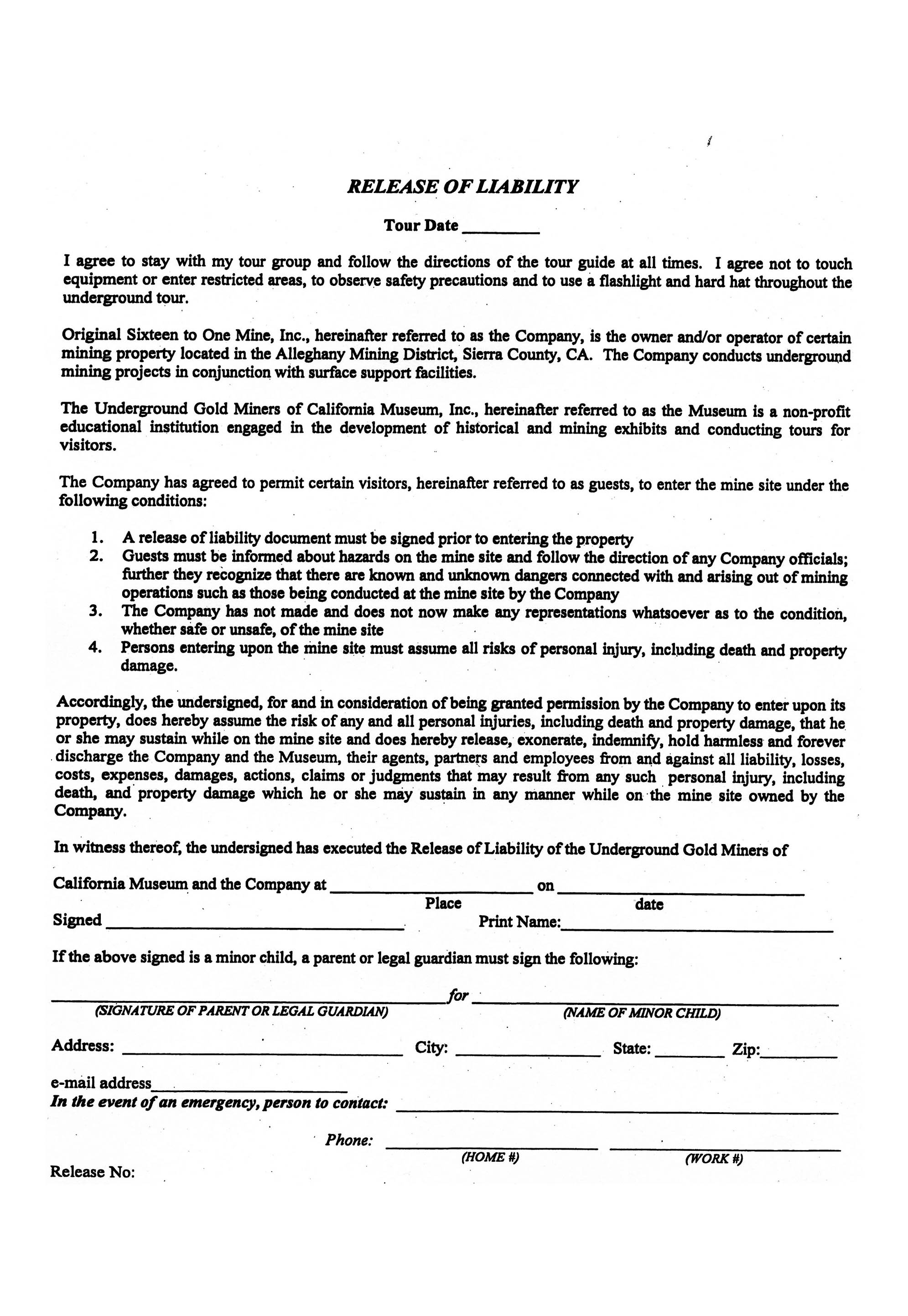 Vehicle Owner Release Form