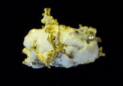 Crystalline Gold and Quartz Specimen