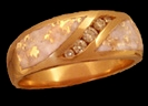 Gents'/Ladies' Channel Diamond Wave Ring
